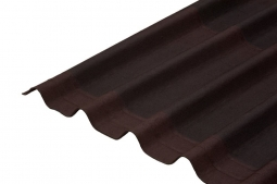 Черепица Ондулин коричневый 1950х960х3 5 волн