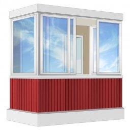 Остекление балкона Алюминиевое Provedal 2.4 м П-образное