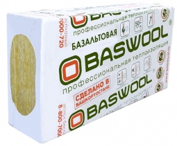 Минераловатный утеплитель Baswool Лайт 45 1200х600х100 мм / 6 пл.