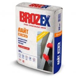 Штукатурка Brozex Лайт CPM-36 цементная легкая 20 кг