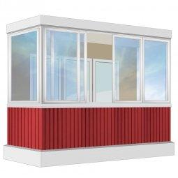 Остекление балкона Алюминиевое Provedal 3.2 м П-образное