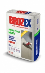 Шпатлевка Brozex Финиш Гросс WR-64 гипсовая безусадочная 25 кг