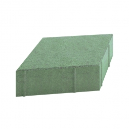 Плитка тротуарная Ромб Гладкий Вибролитая 190х330х50 Зеленая