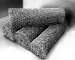 Сетка рабица d=1,6 мм, ячейка 25x25 мм, 1,5х10,0 м оцинкованная