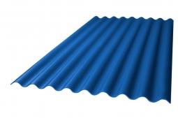 Шифер кровельный 8-волновой 1750х1130х5.2мм, синий