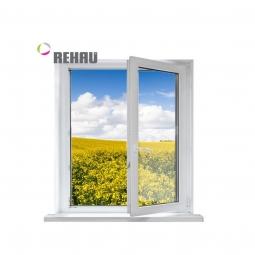 Окно ПВХ Rehau 600х600 мм одностворчатое П 2 стеклопакет