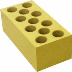 Кирпич лицевой силикатный Желтый пустотелый одинарный