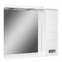 Шкаф-зеркало Домино Cube 80 правый с электрикой DC5011HZ