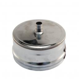 Заглушка нержавеющая Ferrum М 430/0.5 мм ф120 внешняя