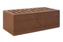 Кирпич лицевой керамический Шоколад «Ломаный камень» пустотелый полуторный